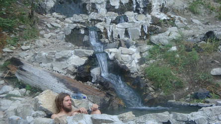 Andy's morning soak (Rocky Canyon)