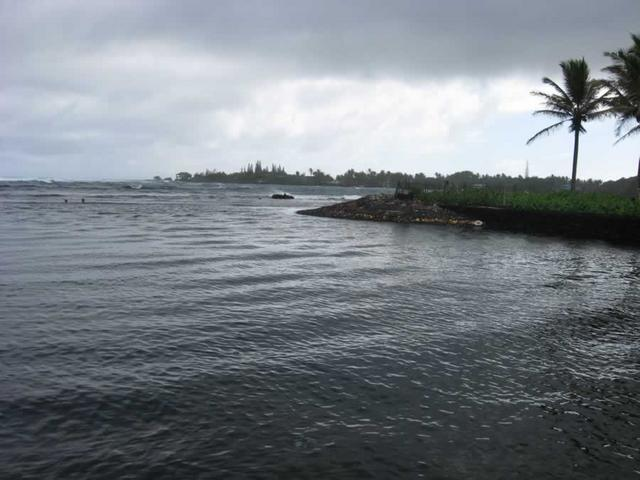The ocean entering the inlet (Champagne Pond)