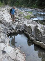 Brian Looking at springs(Wind River)