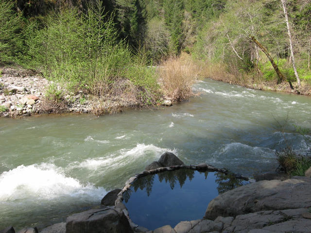 looking upstream over the pool (Kosk)