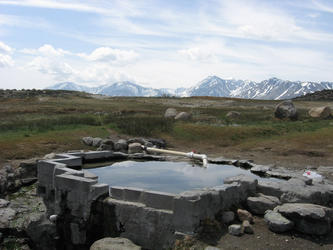 Pool with eastern sierra in background (Shepherd)