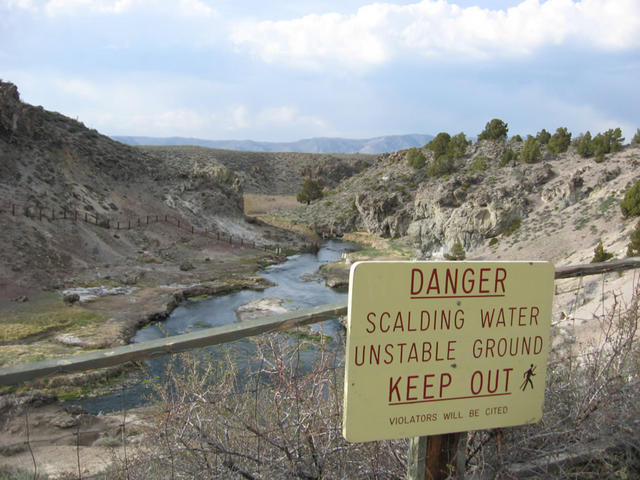 Warning sign (Hot Creek)
