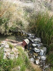 Andy in smaller pool (Owens Valley)