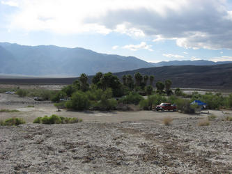 oasis and camping area surrounding (Lower Saline)
