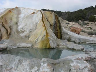 secondary hot pool (travertine)