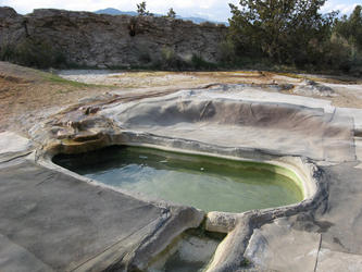 upper travertine pool near parking area (travertine)