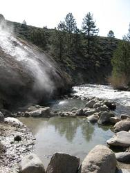 steaming waterfall to pools (Buckeye)