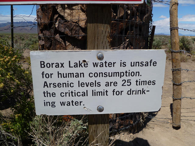 Drink the water it wont kill you(Borax Lakes)