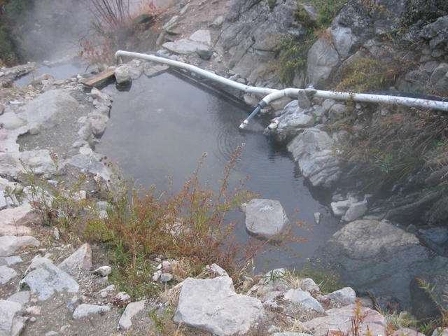 Small pool with cold water pipe (Skinnydipper)