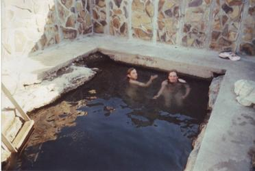 Andy and Adam swim (Hart Mountain)